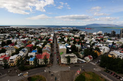 View from Hallgrimskirkja in Reykjavik Iceland Stock Image