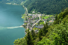 View of Hallstatt, Austria Royalty Free Stock Photos