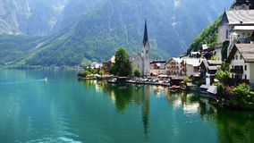 View on the Hallstatt and Hallstatter See. Stock Images