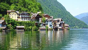 View on the Hallstatt and Hallstatter See. Royalty Free Stock Photo