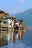 View of the Hallstatt from lake Hallstater See, Austria Royalty Free Stock Image