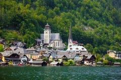 View of Hallstatt village Royalty Free Stock Photos