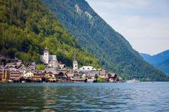 View of Hallstatt village Stock Photo