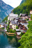 View of Hallstatt village Royalty Free Stock Images