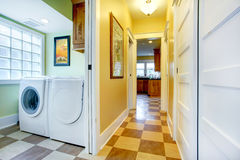 View of hallway and laundry room Royalty Free Stock Photos