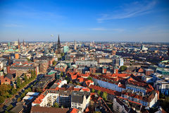 View on Hamburg. From Michel, Germany, 2009 royalty free stock photography