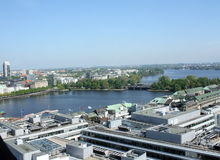 View on Hamburg. City and a lake, Germany Stock Photography