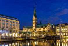 View of Hamburg city hall Royalty Free Stock Images