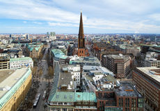 View of Hamburg and St. Jacobi church Royalty Free Stock Photo