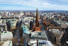 View of Hamburg and St. Jacobi church Stock Images