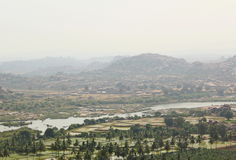 View of Hampi and Tungabhadra river, Hampi, India Royalty Free Stock Photo