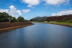 View of the Hanapepe River on Kauai. Daytime view of the beautiful Hanapepe RIver in Kauai, Hawaii Stock Photo