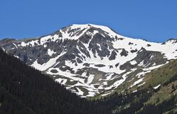A View of Handies Peak in the San Juan Mountains. Hinsdale County, Colorado, as Seen from Grizzly Gulch Stock Images