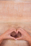 View of hands making heart shape Royalty Free Stock Photography