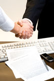 View of handshake Stock Photography