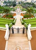 View Of The Hanging Garden Terraces In Haifa, Israel royalty free stock image