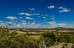 View from Hanging Rocks,Macedon ranges. In Victoria,Australia Stock Images