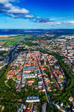 View of Hansestadt Greifswald. Aerial view of Hansestadt Greifswald Stock Images