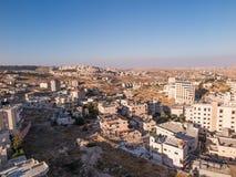 View of Har Homa (Homat Shmuel) from Bethlehem 2015 Royalty Free Stock Photos