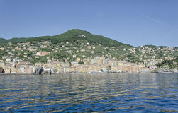 View of the harbor of Camogli Royalty Free Stock Photo