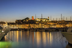 View on the harbor in Cannes on French Riviera Royalty Free Stock Photos