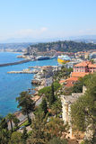 View of harbor of the city of Nice. stock images