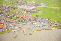 View at harbor of historic island of Marken Royalty Free Stock Photography