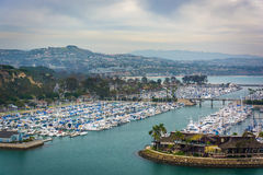 View of the harbor and a marina from Ken Sampson Overlook Park  Royalty Free Stock Image