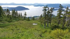 View from Harbor mtn. Harbor mtn. Sitka Alaska Stock Images