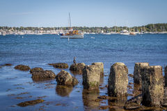 View of the harbor in Newport, RI Royalty Free Stock Images