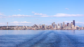 View from the harbor on Seattle city skyline. Royalty Free Stock Photos