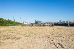 View from harbor side to HafenCity Hamburg Stock Images