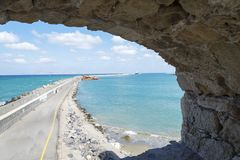 View of Harbor spit on the island of Crete. Stock Photography