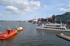 View of the harbor in Stockholm Stock Photography