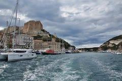 Corsica-harbor in the town Bonifacio Royalty Free Stock Image