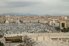 View of harbour bay in Marseille, France Royalty Free Stock Images