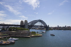 View at Harbour Bridge in Sidney Stock Image