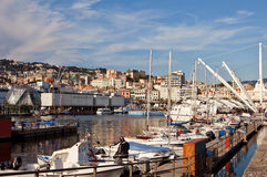 View of the Harbour in Genoa, Italy Royalty Free Stock Photos