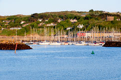 View on harbour in Howth Peninsula Royalty Free Stock Images