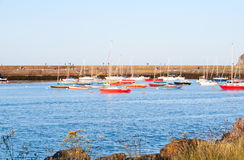 View on harbour in Howth Peninsula Royalty Free Stock Image