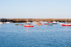 View on harbour in Howth Peninsula Stock Photography