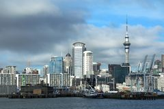 VIew of auckland city in New Zealand Royalty Free Stock Images