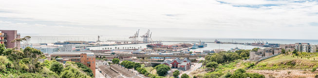 View of the harbour in Port Elizabeth Stock Photo