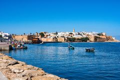 View of the harbour of Rabat, Morocco in Africa stock image