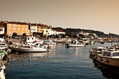 View of harbour in rovinj, croatia Royalty Free Stock Image