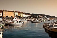 View of harbour in rovinj, croatia Royalty Free Stock Image