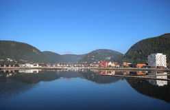 View of harbour during summer. View of harbour during summer in Namsos, Norway Royalty Free Stock Photos
