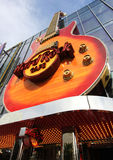 A view of a Hard Rock Cafe guitar Stock Image