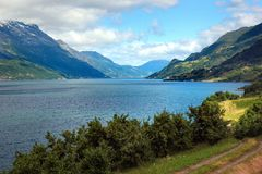 View of Hardanger fjord, Hordaland county, Norway.  royalty free stock image