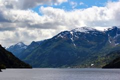 View of Hardanger fjord, Hordaland county, Norway.  royalty free stock photos